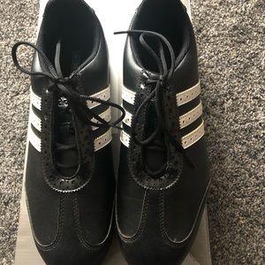 Adidas Black & White Waterproof Women Golf Shoes